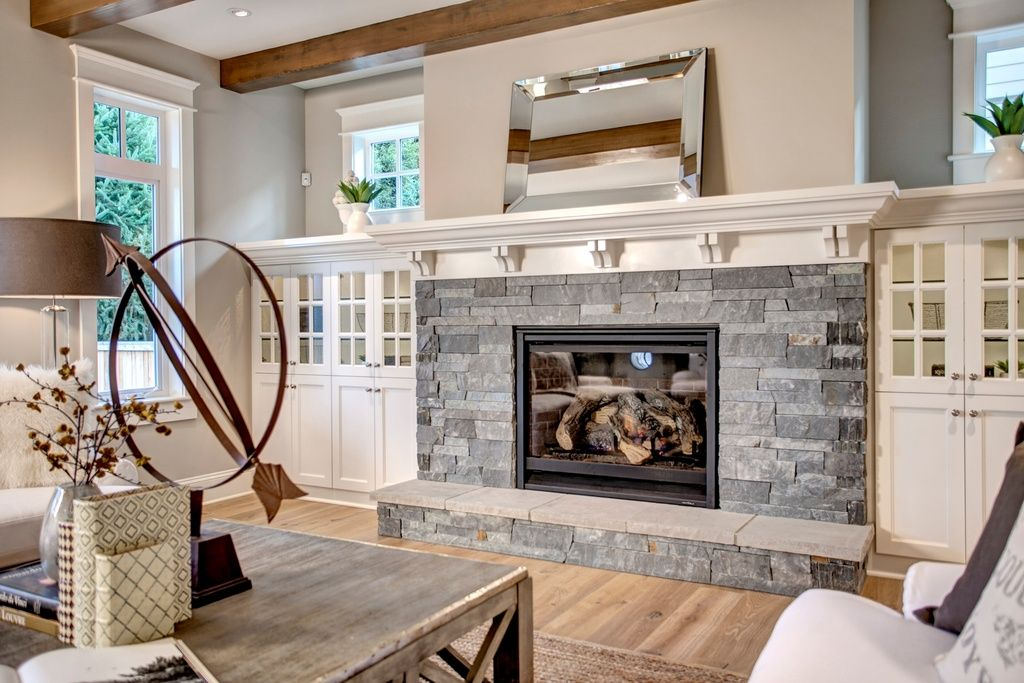 Lovely Stone Fireplace Home Fireplace Dream House