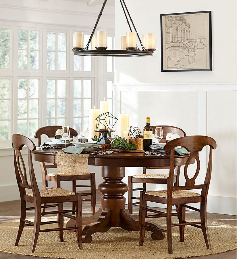 Versatile Kitchen Table And Chair Sets For Your Home: Tivoli Extending Pedestal Dining Table