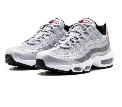 NIKE AIR MAX 95 OG QS METALLIC SILVER BULLET RED 814914 002