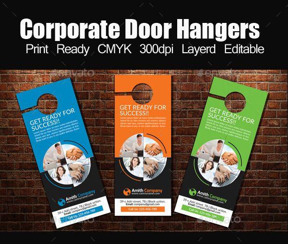Corporate Door Hangers Template  Door Hanger Template Doors And