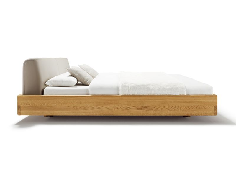 WOODEN DOUBLE BED WITH UPHOLSTERED HEADBOARD NOX NOX COLLECTION BY