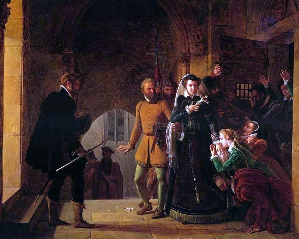 Mary Queen Of Scots Separated From Her Faithfuls By Pierre Revoil Hand Painted Oil Painting Mary Queen Of Scots History Missed In History