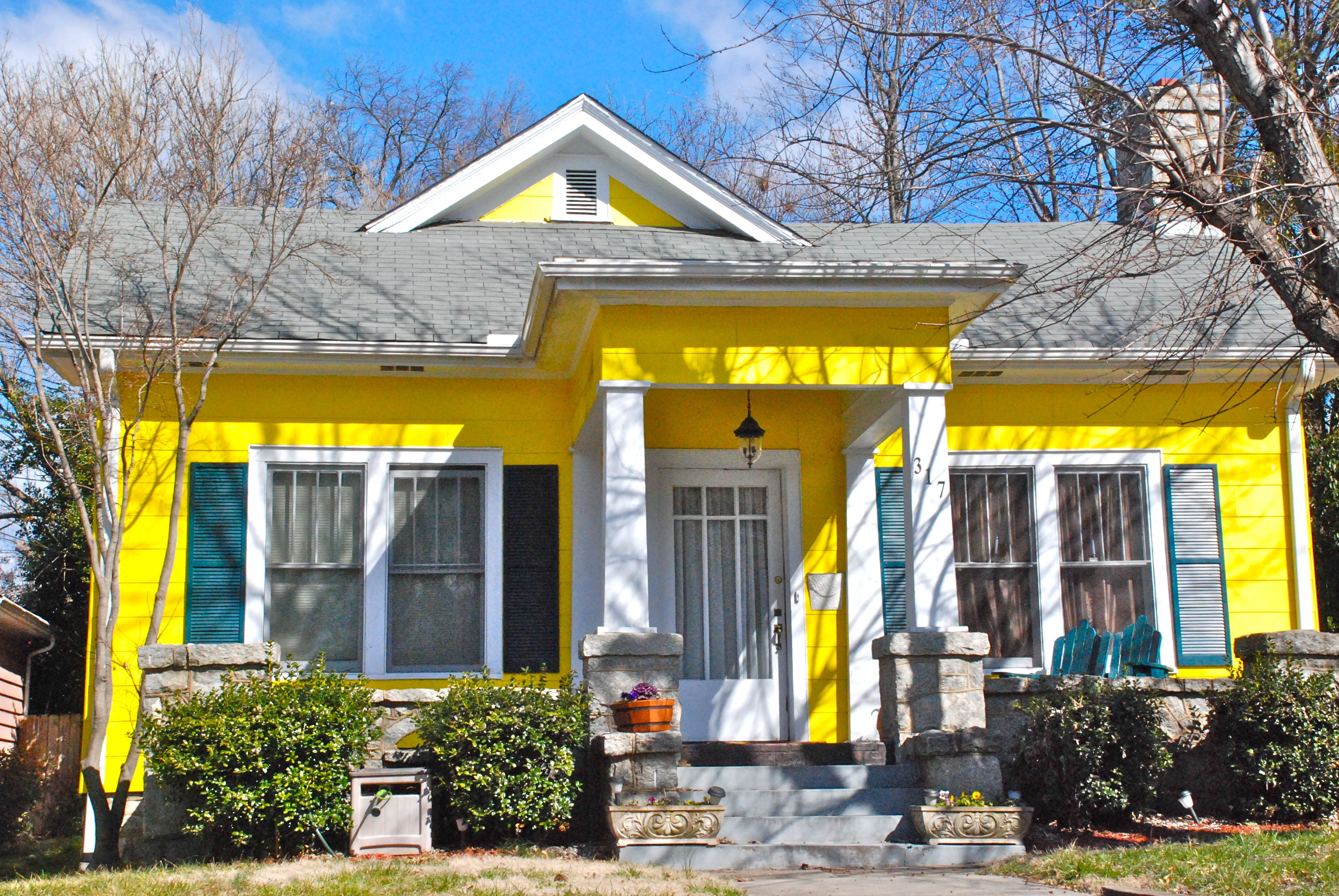 Houses Of The Rainbow Lemon Yellow Greensboro Daily Photo