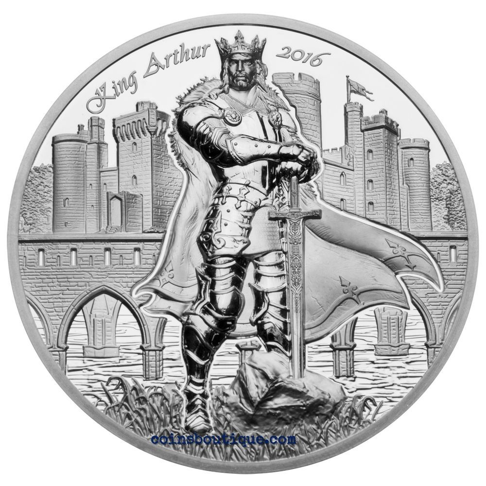 King Arthur Camelot Knights Round Table 2oz Silver Proof Coin Cook Islands 2016 Coins Silver Coins King Arthur