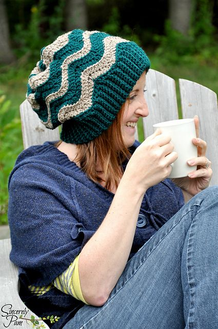 Chevron Slouch pattern by Sincerely Pam