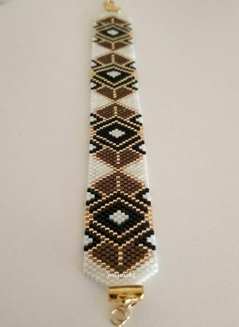 Photo of Miyuki beaded bracelet. Beaded bracelet. Fashion bracelet. Bracelet.