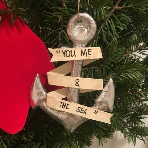 You Me And The Sea Anchor Ornament Ornaments Sea Anchor Christmas Ornaments