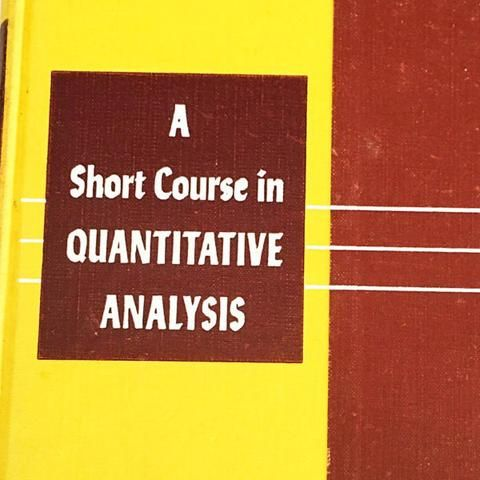 A Short Course In Quantitative Analysis By Willard Hardcover Book