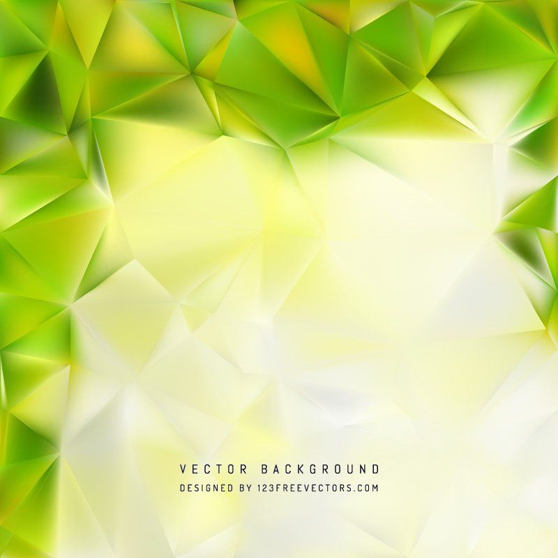 Yellow Green Polygon Triangle Pattern Background Free Vector
