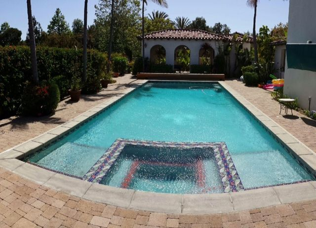 A 30,000 gallon swimming pool that we just