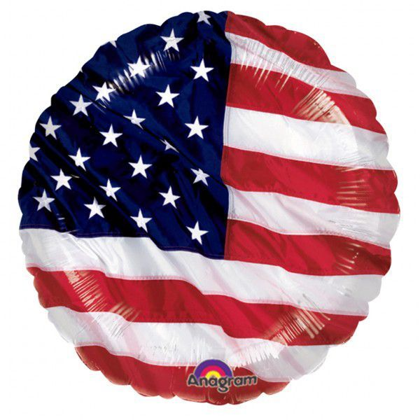 One of the most patriotic balloons you can find! This American Flag Foil Balloon is a great addition to any Independence Day celebration - American Foil Balloon 18""