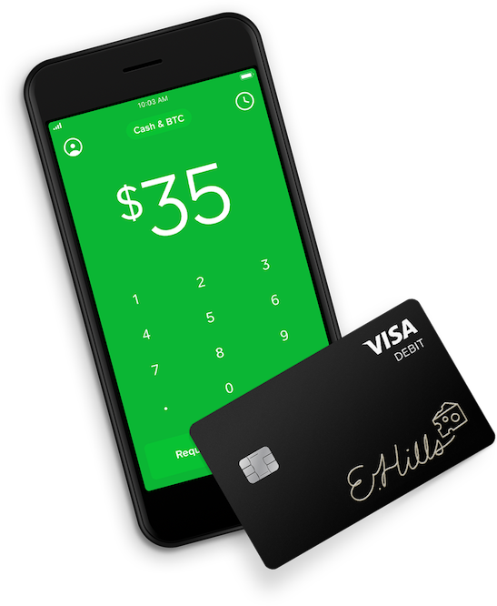 Cash App on iPhone with the Cash card Instant cash, Free