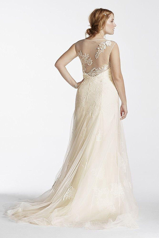 bd2c71b7ec Affordable Plus-Sized Wedding Dresses - Tulle Melissa Sweet Beaded Tank  Plus Size Wedding Dress Style 8MS251114 (sponsored)