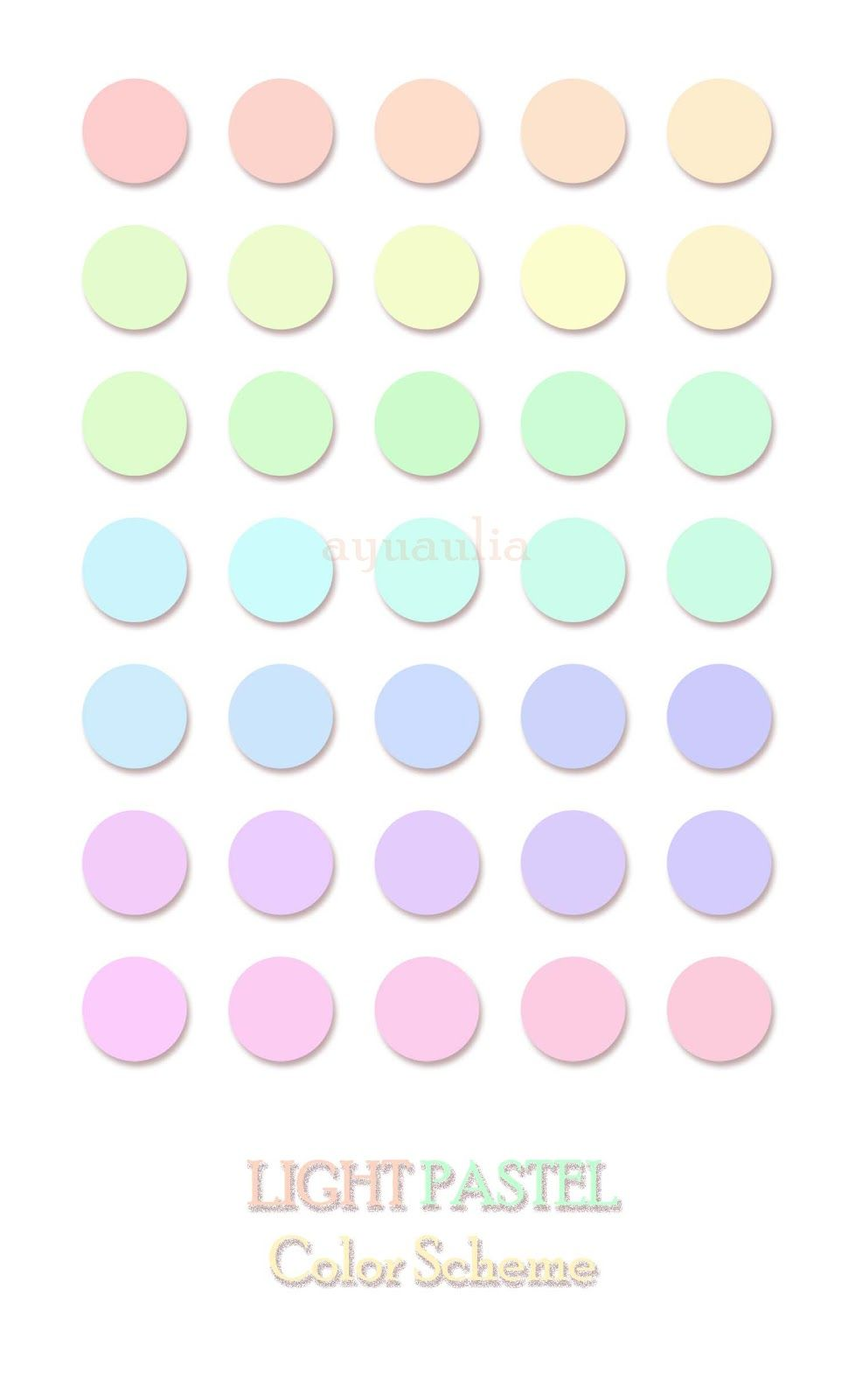 Pastel Colors pastel colors | light pastel color scheme | pastels | pinterest