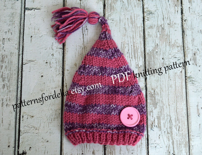 Sleepy little tassel hat knitting pattern baby stocking cap sleepy little tassel hat knitting pattern baby stocking cap photography prop easy fast knit 295 bankloansurffo Choice Image