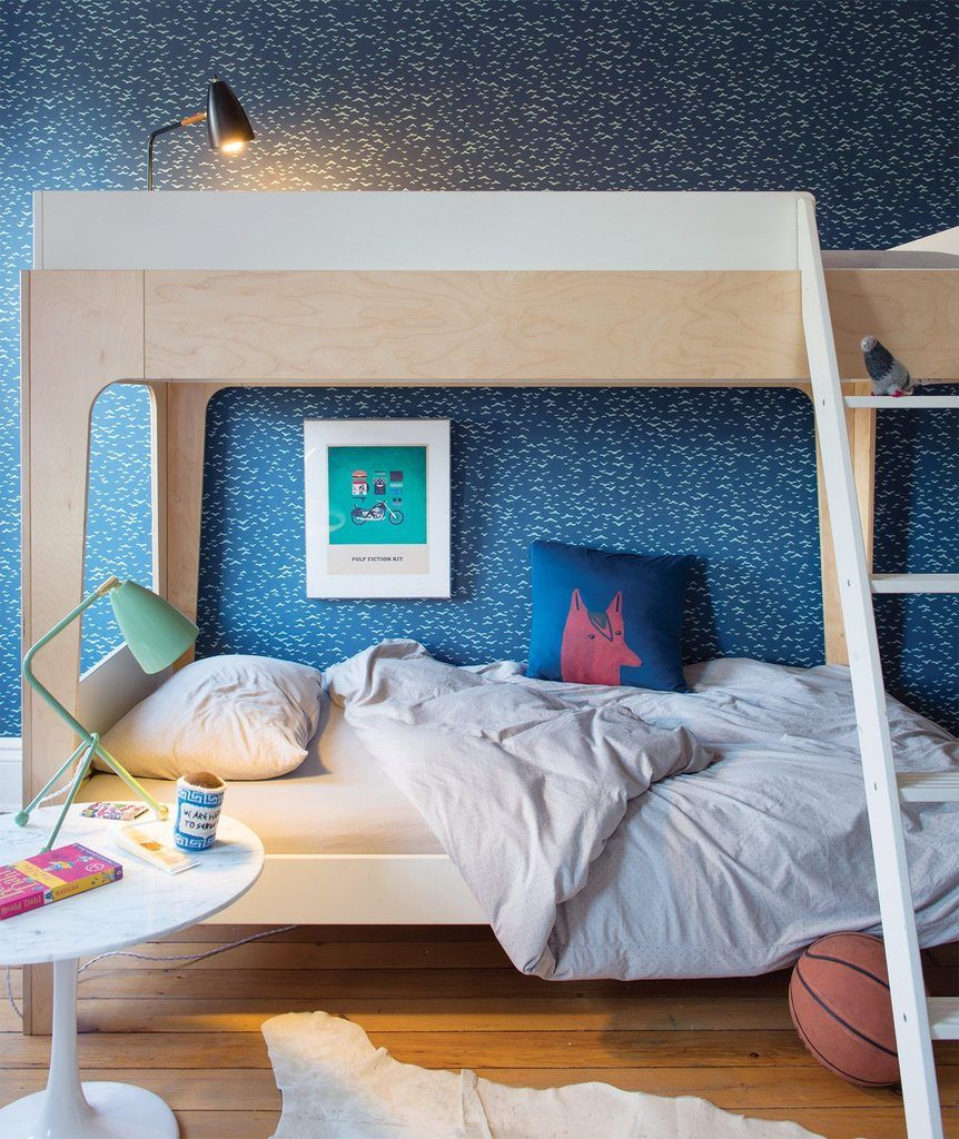 Perch Twin Bunk Bed Oeuf (With images) White bunk beds