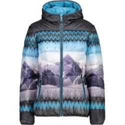 Cmp W Jacket Fix Hood Mountains | 34,36,38,40,42,44,46 | Blau / Grau | Damen F.lli Campagnolo