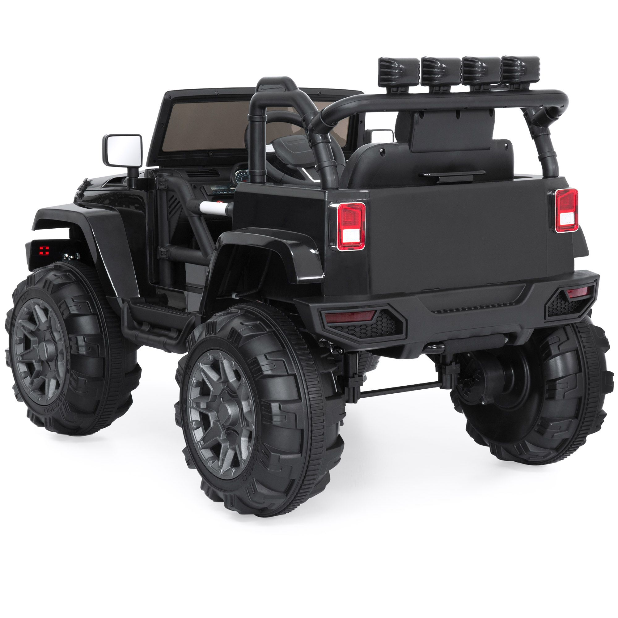 Best Choice Products 12v Kids Ride On Truck Car W Remote Control 3 Speeds Spring Suspension Led Lights Aux Black Walmart Com Cars Trucks Kids Ride On Ride On Toys