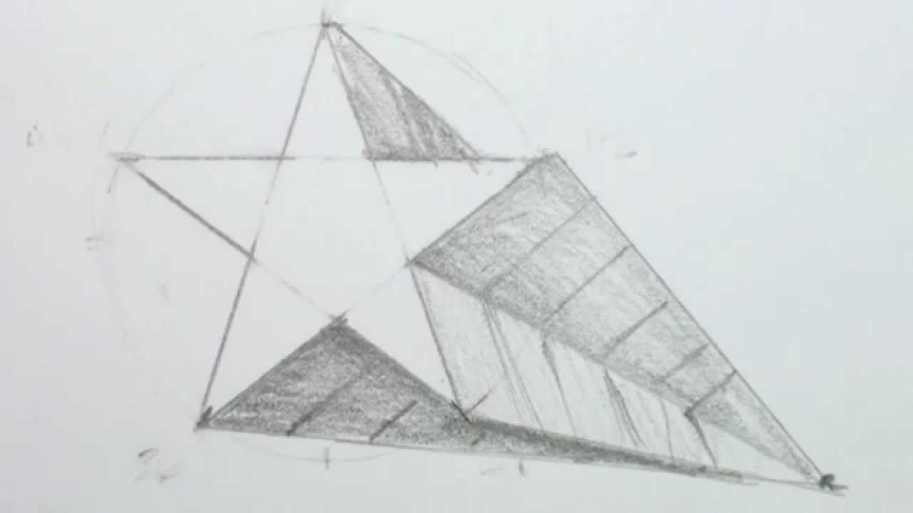 How To Draw A 3d Star Shape  Draw A Star In Onepoint Perspective