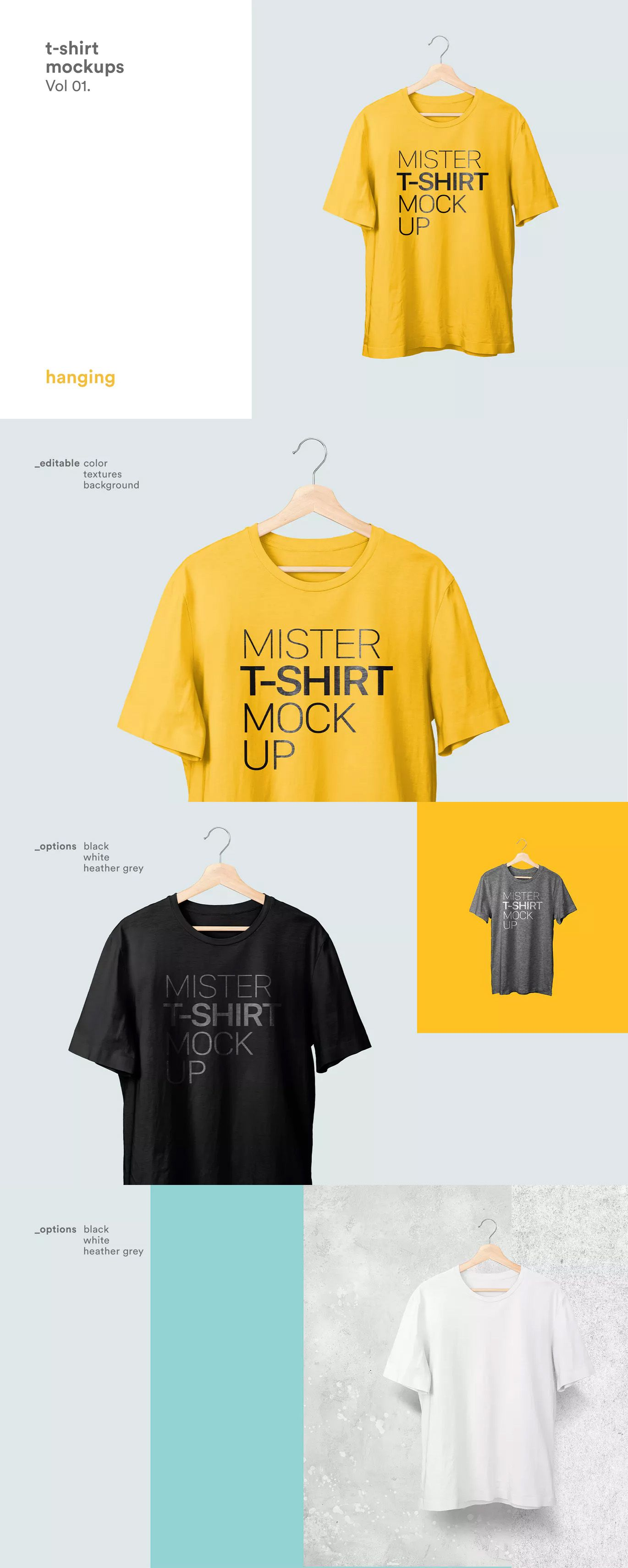 Download T Shirt Mockups By Itscroma On Envato Elements Shirt Mockup Tshirt Mockup Clothing Mockup