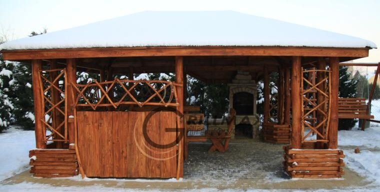 Altana 5x4 Grill Ogrodowy Murowany Gril Kamien House Styles Gazebo Outdoor Structures