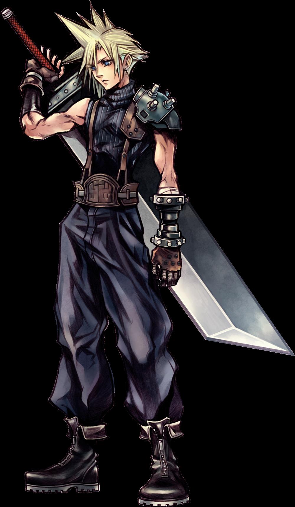 Dissidia Final Fantasy Art By Tetsuya Nomura Based On Yoshitaka Amano Character Designs For Fina Final Fantasy Characters Final Fantasy Vii Cloud Final Fantasy