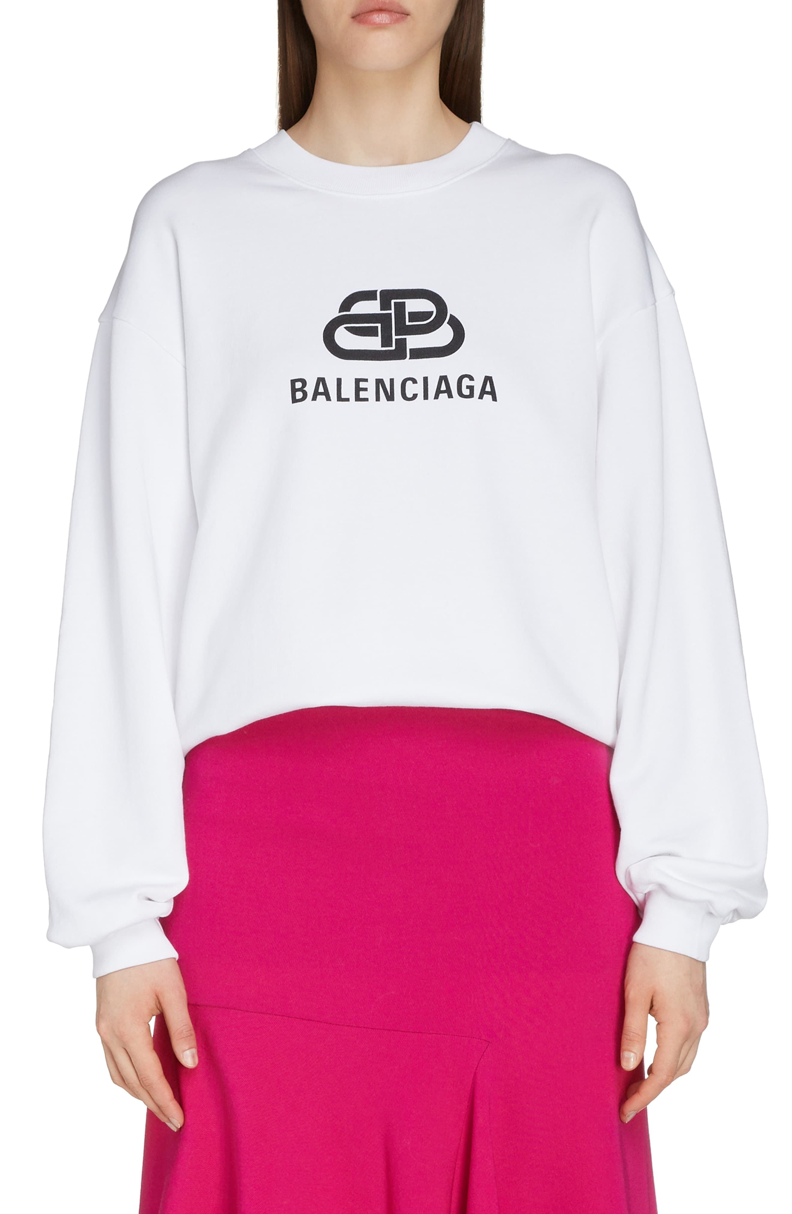 Balenciaga Interlocking Bb Logo Sweatshirt Nordstrom Sweatshirt Fashion Fashion Clothes Women Long Sleeve Tshirt Men [ 4048 x 2640 Pixel ]