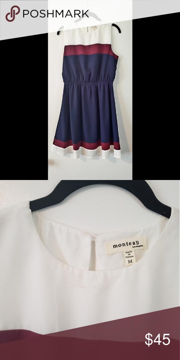 fcc215c59d9b Monteau nautical sleeveless dress Never worn. Sleeveless dress