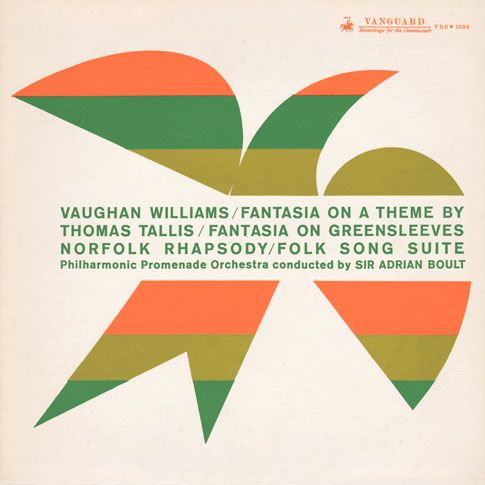 Sir Adrian Boult And The Philharmonic Promenade Orchestra Vaughan Williams Fantasia On A Theme By Thomas Tallis 19 Music Illustration Album Covers Album Art