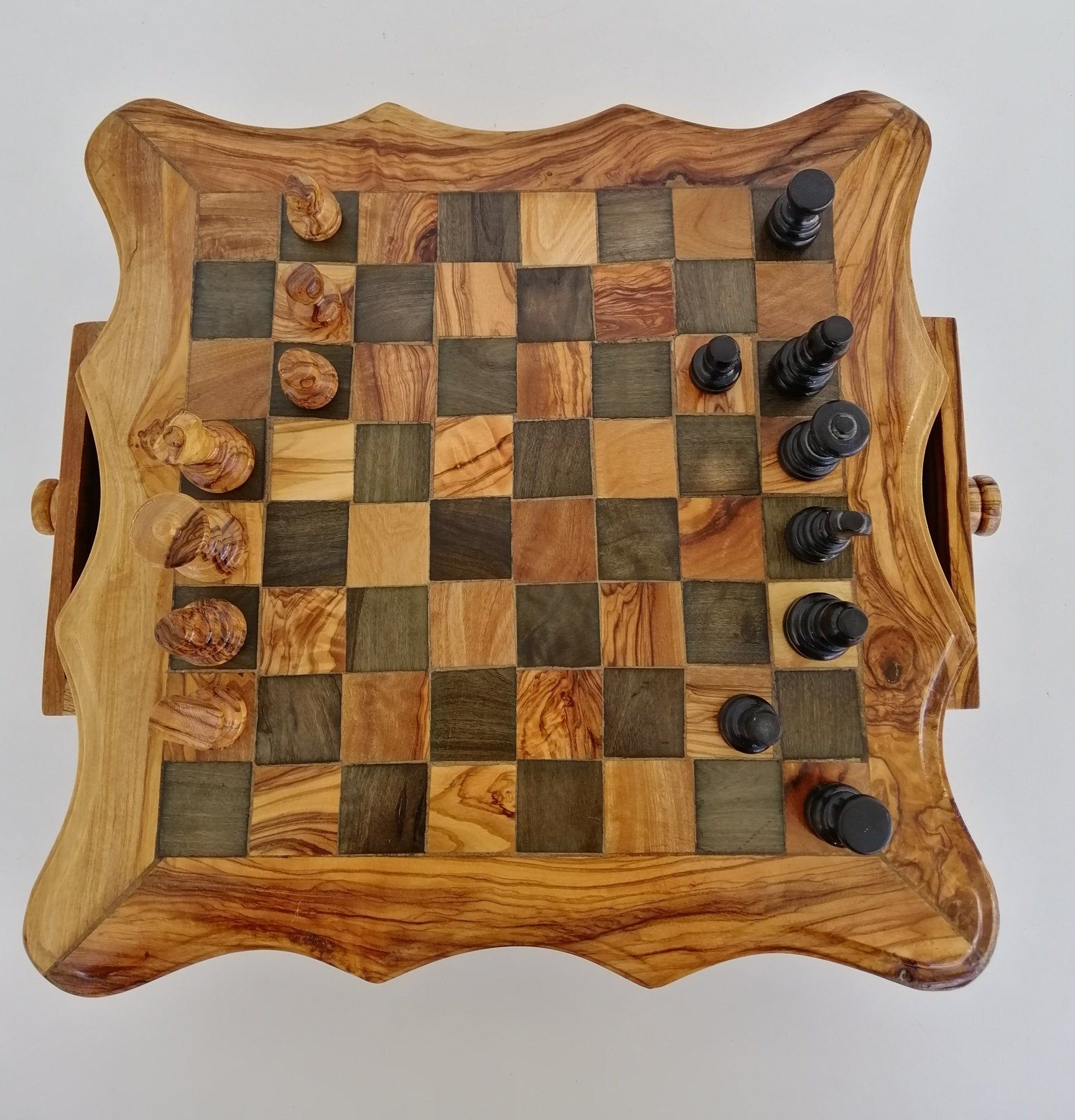 Chess Board Olivewood Squared