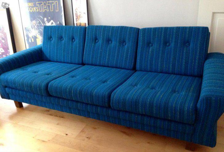 Fin blå retrosoffa | Möbler, Blå