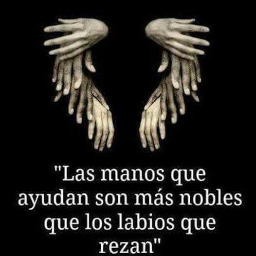 Las manos que ayudan.........