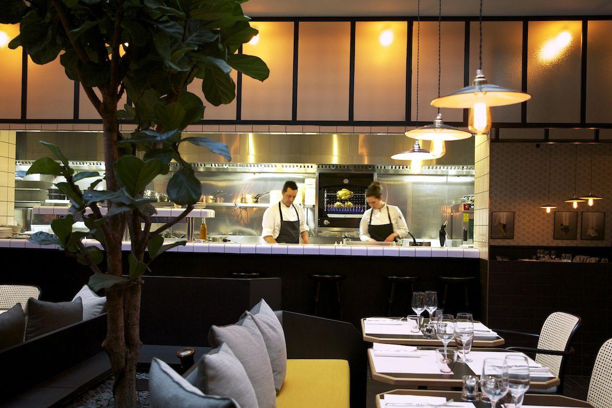 cuisine de restaurant ouverte