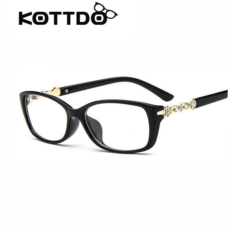 becc7c393b8 KOTTDO Fashion Women Retro Eye Glasses Frame Brand Design Optical Vintage  Glasses Frame Clear Lens Eyeglasses