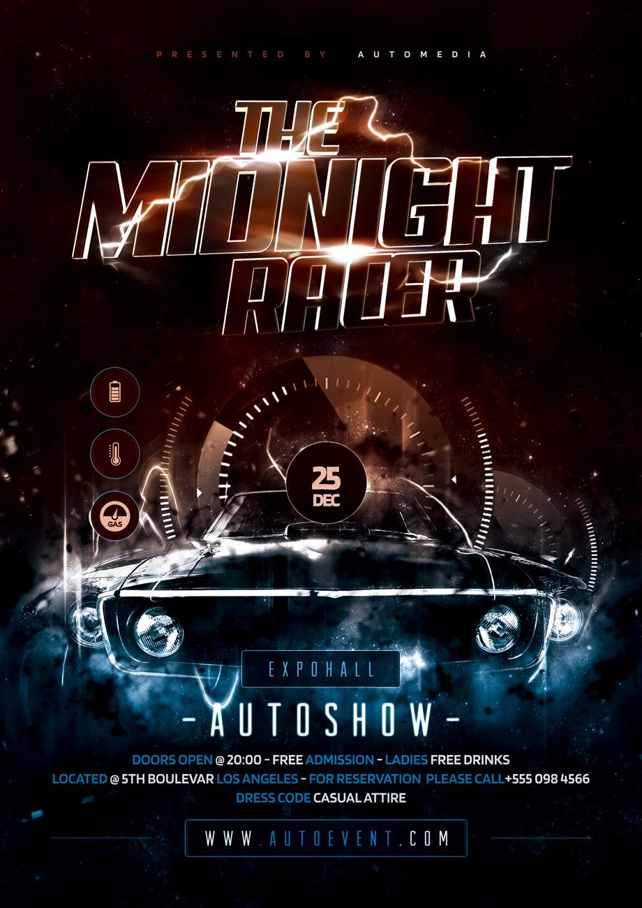 Car Show Flyer Poster Monogram Logo Design Flyer Photoshop Flyer
