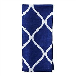 Kim Seybert Tile Blue And White Napkin