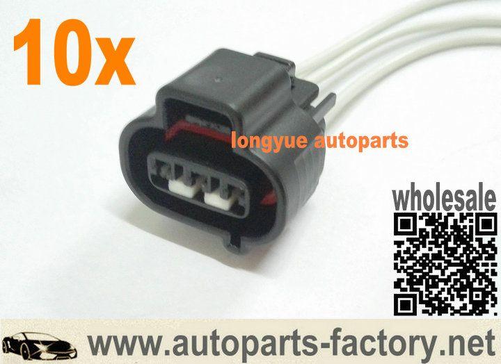 longyue 10pcs 05 -10 Crank Position Sensor Cam Connector Pigtail Lly
