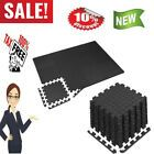Exercise Floor Mat Fitness Foam Mats with Border 12 Tiles Gym Workout Equipment  #Fitness