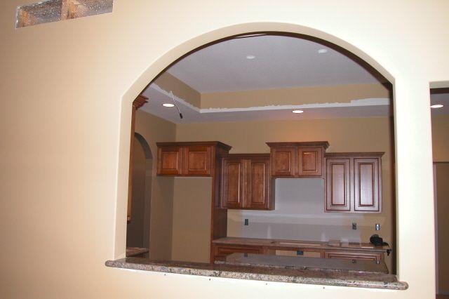kitchen living room with pass thru breakfast bar
