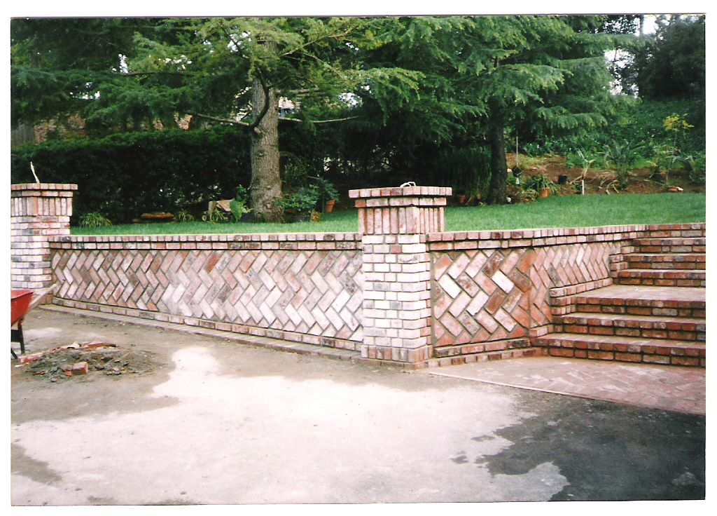 Building Brick Paths And Stone Walls Creates A Magical Landscape Description From Uk Pinterest Com I Searched For Brick Garden Retaining Wall Backyard Fences