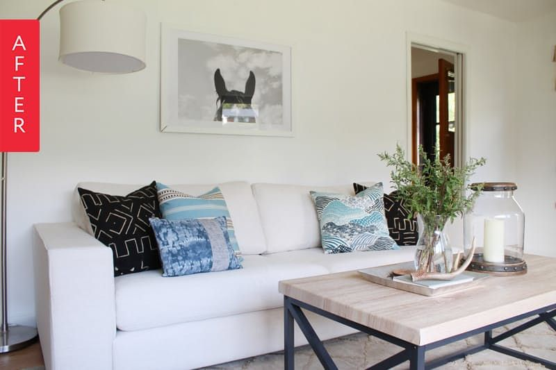 Before  After A Living Room Gets a Clear Style Vision Living