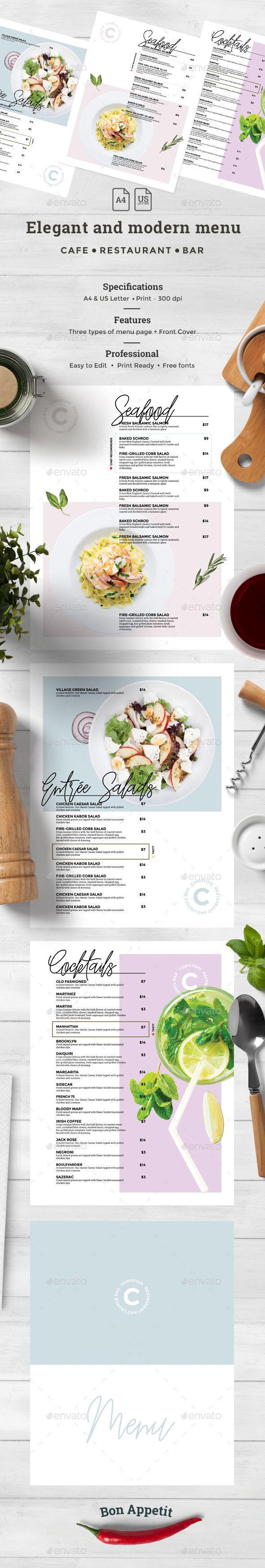 Simple Clean Food Menu Template - #Simple #Clean #Food #Menu #Template #Print #Design. Download here: https://graphicriver.net/item/food-menu/19525892?ref=yinkira