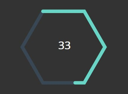 Minimal Hexagon Countdown Timer With jQuery And SVG - SVG Timer