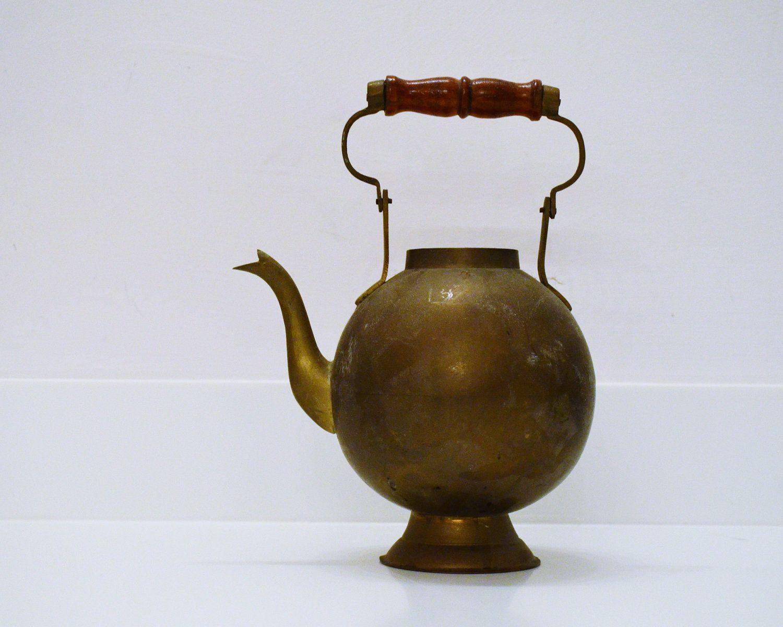 Vintage Rosenthal Netter Brass Tea Pot