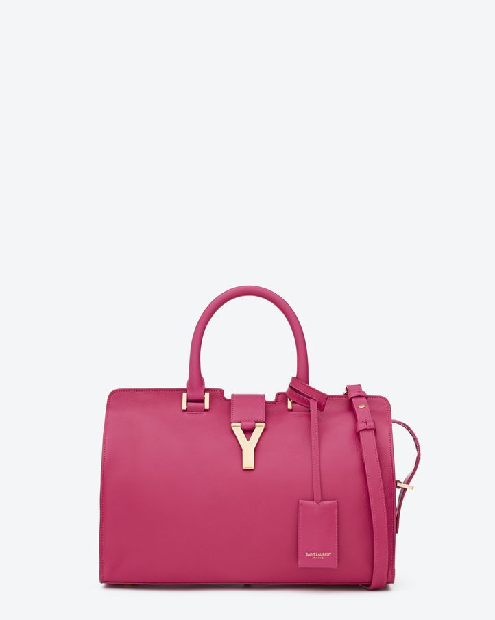7c0f9193ba06 SAINT LAURENT CLASSIC SMALL Y CABAS BAG IN FUSCHIA LEATHER  ysl  bag   fashion