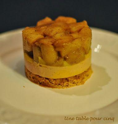 Une Table Pour Cinq Tatin De Foie Gras Aux Pommes Caramélisées Foie Gras Aux Pommes Recette Noël Plat Recette Repas Noel
