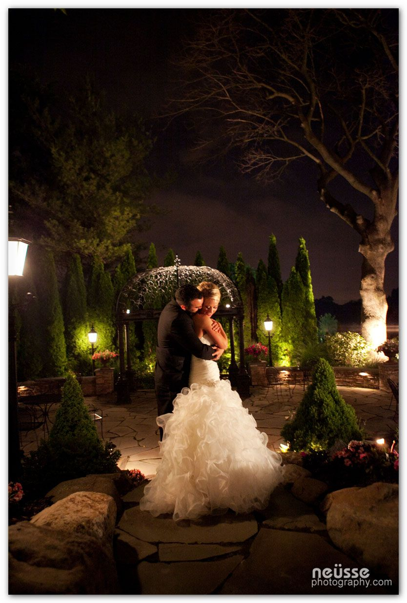 couple portrait, outdoor, night light, in garden at The Park Savoy ...