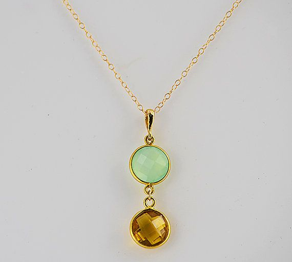 Multiple Birthstones Necklace Mum Necklace With Birthstones Family Birthstones Necklace Grandmother Jewellery Gemstone Cascade Necklace