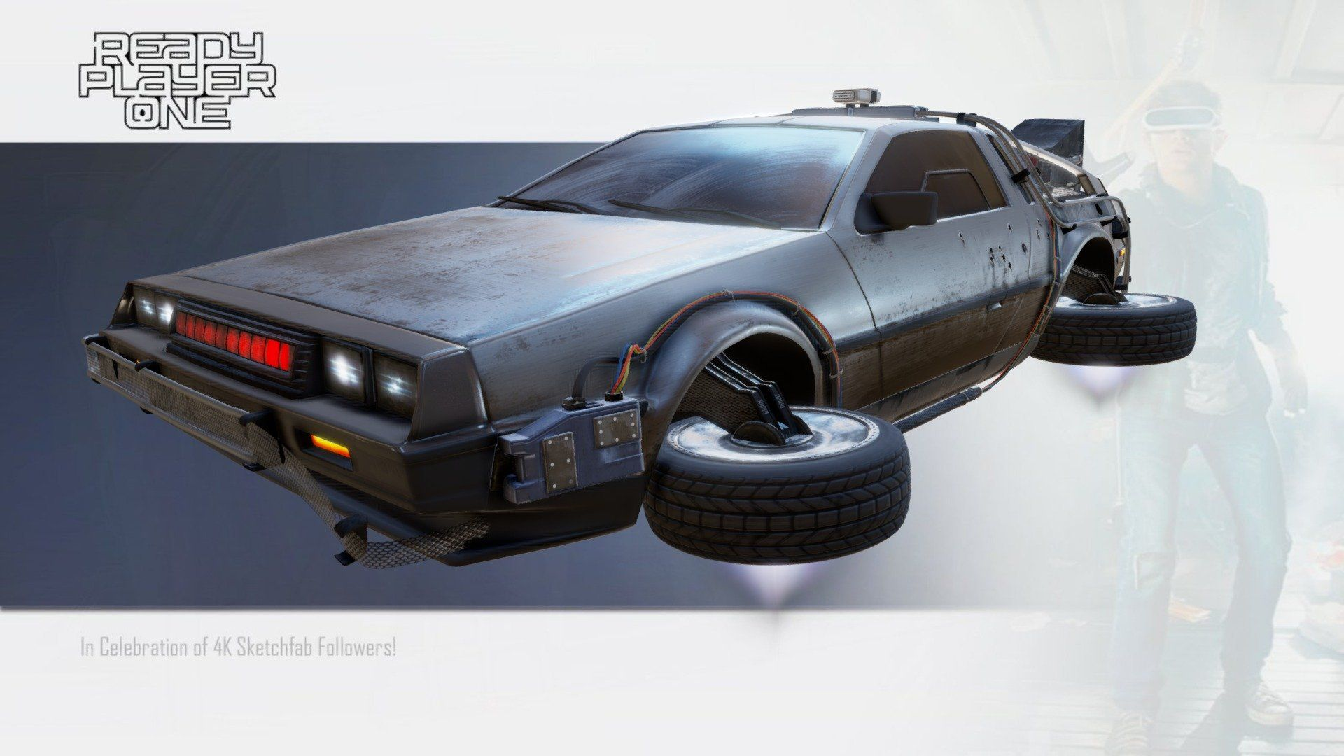Ready Player One Parzival S Delorean By Jculley3d Delorean