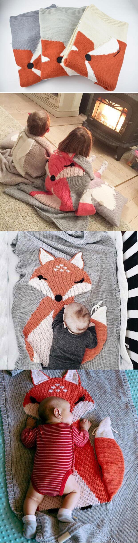 Hot Selling Fox Blanket, Stereo Ear Blanket, Children